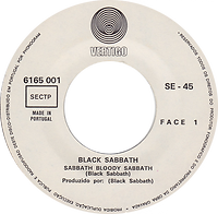 Black Sabbath - Sabbath Bloody Sabbath / Changes - Portugal  - Vertigo  6165 001 - 1973 - Side 1