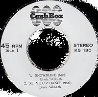 Black Sabbath - Snowblind / St.Vitus Dance / Supernaut / Tomorrow's Dream - Thailand - Cash Box KS-130 - 197?- Side 1