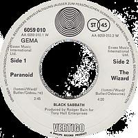 Black Sabbath - Paranoid / The Wizard - Germany - Vertigo 6059 010- 1970 - Side 2