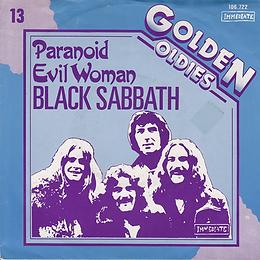 Black Sabbath - Paranoid / Evil Woman - Netherlands - Ariola 106.722 - 1983 - Front