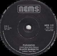 Paranoid / Sabbath Bloody Sabbath - UK NEMS 112 - 1978 -  Side 1