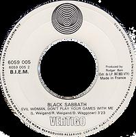 Black Sabbath - Evil Woman / Wicked World - France -Vertigo 6059 002 - 1970 Side 1