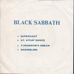 Black Sabbath - Supernaut / St.Vitus Dance / Tomorrow's Dream / Snowblind - Thailand - TKR 720 - 197?- Back