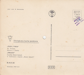 Black Sabbath - Zmiany (Changes) / J.Dassin - Taka, Taka - Poland - R-0125-II - 197?