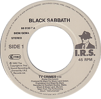 Black Sabbath - TV Crimes / Letters From Earth - Netherlands I.R.S. 88 0130 7- 1992 - Side 1