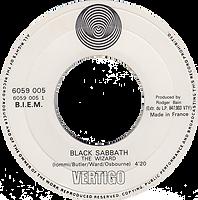 Black Sabbath - Evil Woman / Wicked World - France - Vertigo 6059 002 - 1970 - side 2