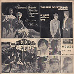 The Seeds/ The Animals / Simon & Garfunkel / Peter & Gordon Pushin' Too Hard / House Of The Rising Sun / Homeward Bound /A World Without Love MTR - 156 - Thailand VG+/VG €60