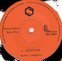 Black Sabbath - Solitude / Sweet Leaf - Singapore - S BS-4884 - 1972 - Side 1