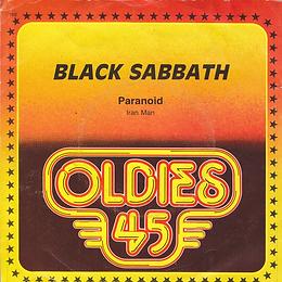 Black Sabbath - Paranoid / Iron Man - Netherlands - Warner Bros GWB 0312- 1975 - Front
