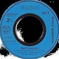 Black Sabbath -Paranoid / Rat Salad - France - Vertigo 6059 014 -1970 - Side 2