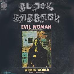 Black Sabbath - Evil Woman / Wicked World - Spain - Vertigo 6059 002 - 1970 - Back