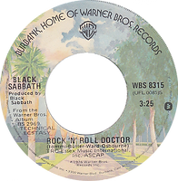It's Alright / Rock'n'Roll Doctor Warner Bros WBS 8315 - 1974 - side 2