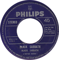 Black Sabbath - Black Sabbath / Evil Woman Don't Play Your Games With Me  - Phillipines - Philips PHI-1178 - 197? - Side 1