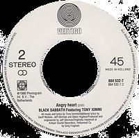 Black Sabbath - No Stranger To Love (Remix) / Angry Heart - Netherlands - Vertigo 884 532-1 - 1986 - Side 2