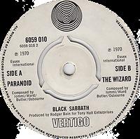 Black Sabbath - Paranoid / The Wizard (Demo) - UK - Vertigo 6059 010 - 1970 - Side 2