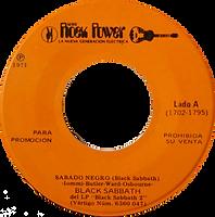 Black Sabbath - Black Sabbath / Gentle Giant - Giante - Mexico - Rock Power RJ-01 - 1971 - Side A