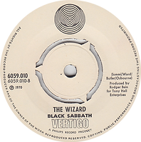 lack Sabbath - Paranoid / The Wizard - Norway - Vertigo 6059 010- 1970 - Side 2