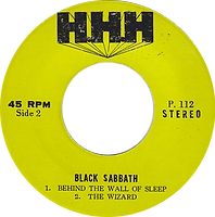 Black Sabbath - N.I.B. / Behind The Wall Of Sleep / The Wizard - Thailand - HHH P.112 - 197?- Side 2