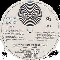 Black Sabbath - Paranoid / Wicked World / Fairies Wear Boots / Planet Caravan - Peru - Vertigo 6277 101- 197? - Side 2