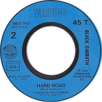 Black Sabbath - Never Say Die / Hard Road (Promo) - France - Vertigo 6837 512 - 1978 - Side 2