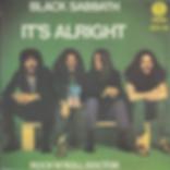 Black Sabbath - It's Alright / Rock'n'Roll Doctor - Italy - Vertigo 6079 100- 1976 - Back