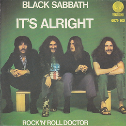 Black Sabbath - It's Alright / Rock'n'Roll Doctor - Italy - Vertigo  6079 100 - 1976 - Back