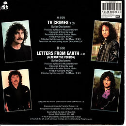 Black Sabbath - The Lawmaker / The Lawmaker - Spain - I.R.S./Hipsavox 006 4023137- 1990 - Promo - Back