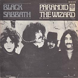 Black Sabbath - Paranoid / The Wizard - Spain - Vertigo 6059 010- 1970 - Back