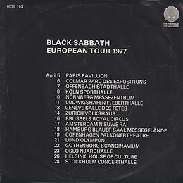 Black Sabbath - Gypsy / She's Gone - Netherlands - Vertigo 6079 102 - 1976 - Back
