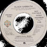 Lady Evil (Edit) / Lady Evil (Edit) Warner Bros WBS 49549 - 1980 Mono