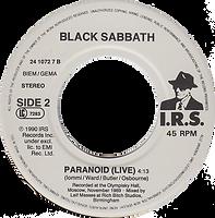 Black Sabbath - Feels Good To Me (Edit) / Paranoid (Live)- Netherlands - I.R.S. 24 1072 7 - 1990 - Side 2