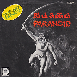 Black Sabbath - Paranoid / Snowblind - Germany - Intercord INT.110.604 - 1980