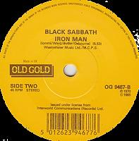 Black Sabbath - Paranoid / Iron Man - UK - Old Gold OG 9467 - 1985 - Side 2