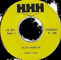 Black Sabbath - Sweet Leaf / Lord Of This World - Thailand - HHH P.105 - 197?- side 1