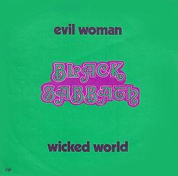 Black Sabbath - Evil Woman / Wicked World - Belgium - Vertigo 6059 002 - 1970 - back