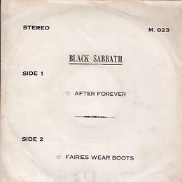 Black Sabbath - After Forever / Fairies Wear Boots - Thailand - 4 Track M.0123 - 197? - Back