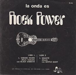 Black Sabbath - Black Sabbath / Gentle Giant - Giante - Mexico - Rock Power RJ-01 - 1971 - Front