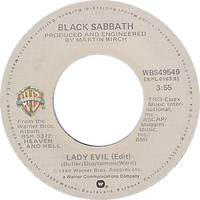 Lady Evil (Edit) / Children Of The Sea Warner Bros WBS 49549 - 1980 - side 1