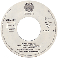 Black Sabbath - Sabbath Bloody Sabbath / Changes - Portugal - Vertigo  6165 001 - 1973 - Side 1 with Essex Music