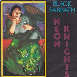 Black Sabbath - Neon Knights / Children Of The Sea (Live) - UK Vertigo SAB 3- 1980 - front