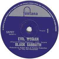 Black Sabbath - Evil Woman / Wicked World - New Zealand - Fontana 5267977 - 1970 - Side 1