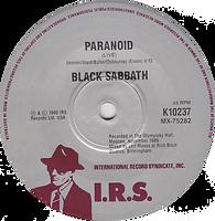 Black Sabbath - Feel Good To Me / Paranoid (Live) - Australia - I.R.S. K10237- 1990