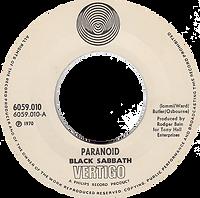 Black Sabbath - Paranoid / The Wizard - Norway - Vertigo 6059 010- 1970 - big senterhole
