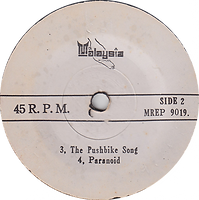 George Harrison - What Is Life / John Lennon - Power To The People Mixtures - The Pushbike Song / Black Sabbath - Paranoid Malaysia MREP 9019 - 197? - Side 2