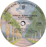 Black Sabbath - Looking For Today / Sabbath Bloody Sabbath / Abra Cadabra Warner Bros  S 2697 - 1974 - Side 1