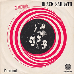Black Sabbath - Paranoid / Evil Woman, Don't Play Your Games With Me / Wicked World - Portugal - Vertigo  6276 003 - 1970 - Front