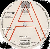 Black Sabbath - Sweet Leaf / Lord Of This World (Demo) - UK - Vertigo 6059 031 - 1971 - Side 1