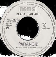 Black Sabbath - Paranoid / Snowblind Beograd Disc SVKS 3019- 1980 - Side A