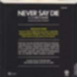 Black Sabbath - Never Say Die / She's Gone - UK - Vertigo SAB 001 - 1978 - back