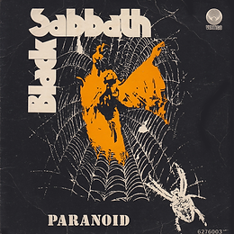 Black Sabbath - Paranoid / Evil Woman, Don't Play Your Games With Me / Wicked World - Portugal -Vertigo  6276 003 - 1970 - Front